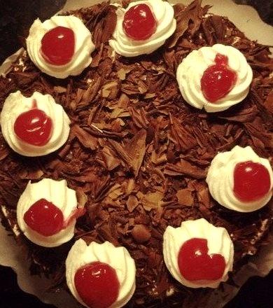 Vday, Cherry, Cake, Chocolate