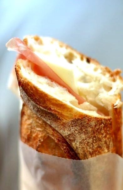 Prosciutto and Cheese Sandwich by Linda Hunt (via Laura Jaworski / Pinterest)