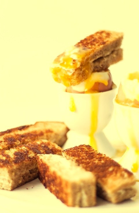 Soft-Boiled Eggs & Grilled Cheese Sticks